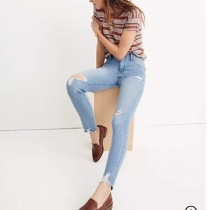 """NWT Madewell 9"""" High-Rise Skinny Jeans Ontario 28"""